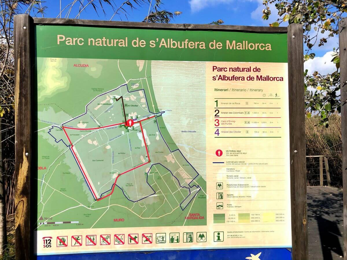 Itinerarios Parc Natural S'Albufera de Mallorca