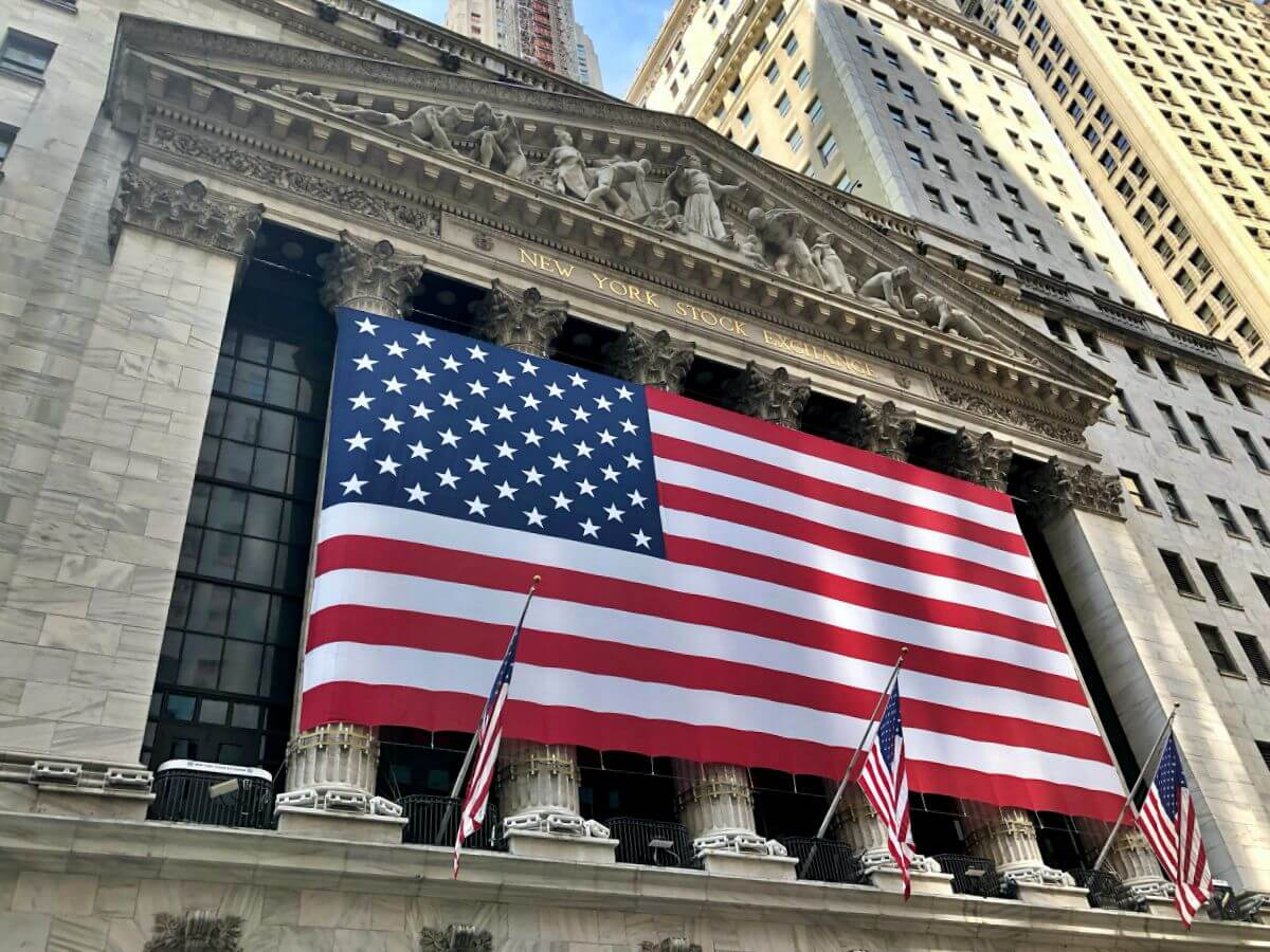 Bolsa de Nueva York en Wall Street