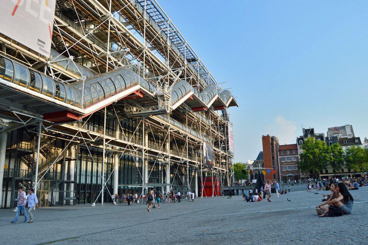 Exterior  Centro Pompidou en París
