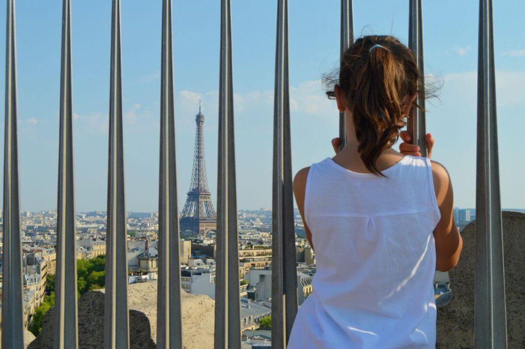 Vistas de París con niños