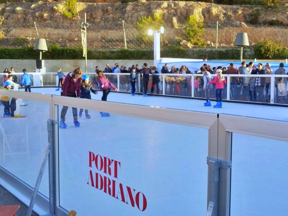 Pista hielo Port Adriano