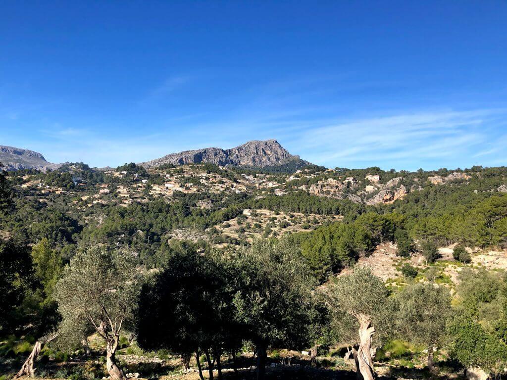 Panorámica de Galilea en Mallorca