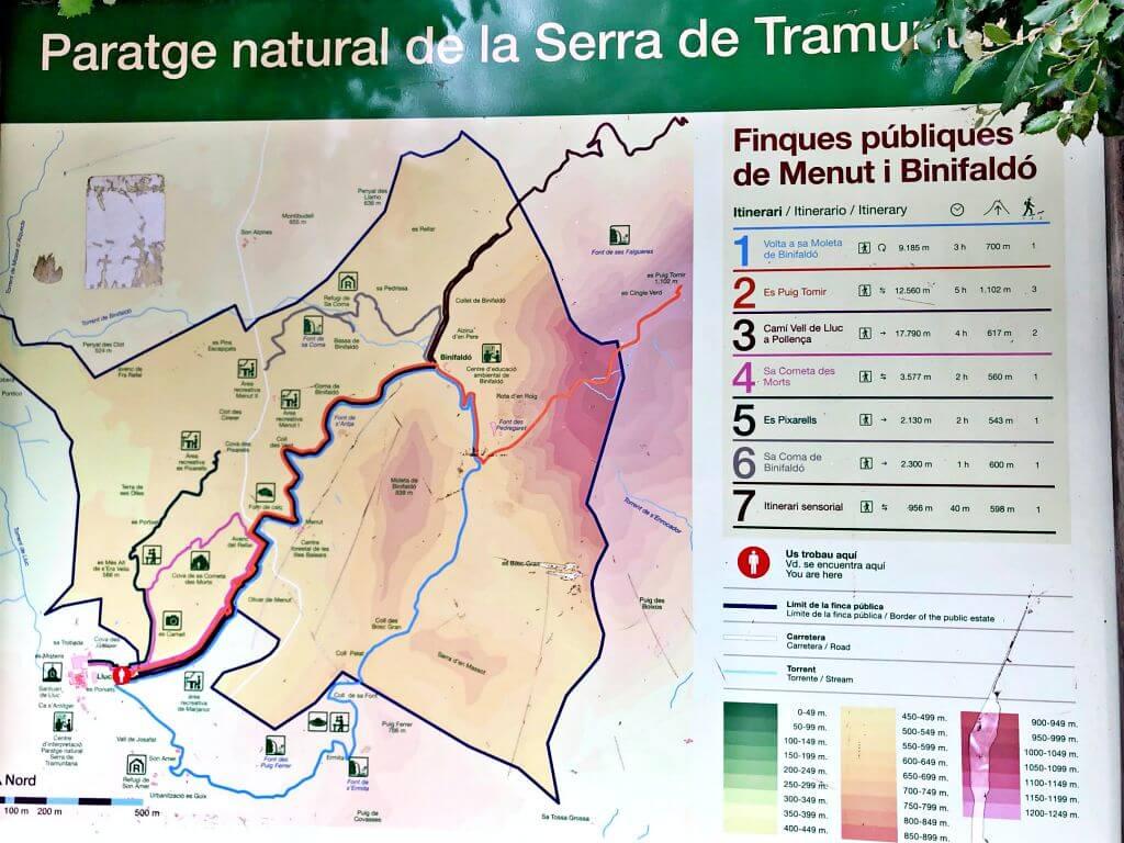 Itinerarios per la Serra de Tramuntana