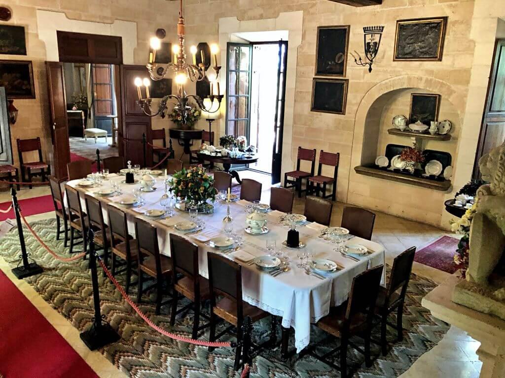 Comedor principal Casa museo Els Calderers
